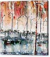 The Ferry Arrives At Galata Port - Istanbul Acrylic Print
