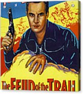 The Feud Of The Trail, Us Poster, Tom Acrylic Print