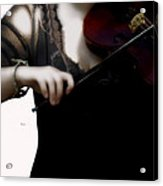 The Fiddle Player In Violin Concerto A Minor Grunge Acrylic Print