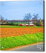 The Field Is Plowed 2014 Acrylic Print