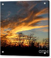 The Fiery Sky Acrylic Print