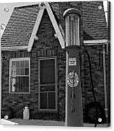 The Filing Station Bw Acrylic Print