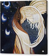 The Final Eclipse Before The Millenium Hand Embroidery  Acrylic Print
