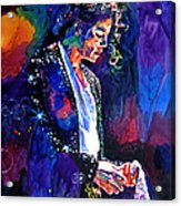 The Final Performance - Michael Jackson Acrylic Print by David Lloyd Glover