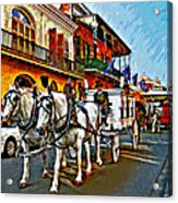 The Final Ride Painted Acrylic Print
