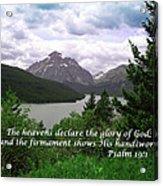 The Firmament  Psalm 19 1  Acrylic Print
