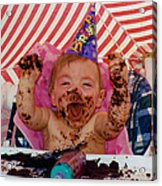 The First Birthday Cake Acrylic Print