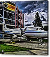 The First Plane Acrylic Print by Ryan Crane
