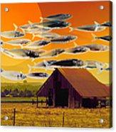 The Fish Farm 5d24404 Square Acrylic Print