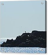 The Fisherman And The Edge Of The World Acrylic Print