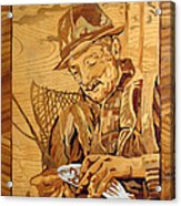The Fisherman With The Fish Acrylic Print