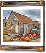 The Fishing Village Scene Acrylic Print