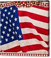 The Flag Acrylic Print by Martin Bergsma