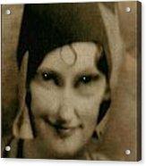 The Flapper's Secret Acrylic Print