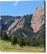 The Flatirons Acrylic Print by Bob Hislop