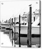 The Fleet Awaits - Outer Banks Acrylic Print