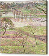 The Flood At Eragny Acrylic Print