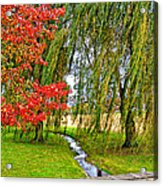 The Flow Of Autumn Acrylic Print