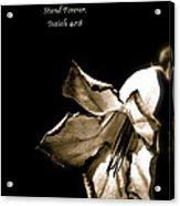 The Flower Fadeth Acrylic Print