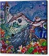 The Flower Peddler Acrylic Print
