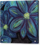 The Flowers Are Blue Acrylic Print