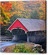 The Flume Covered Bridge Acrylic Print