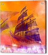 The Flying Dutchman Ghost Ship Acrylic Print