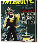 The Forbidden Planet Vintage Movie Poster Acrylic Print