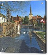 The Ford At Eynsford Kent Acrylic Print