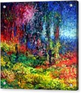 The Forest With Figure Acrylic Print
