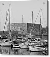 The Fortress And The Port In Iraklio City Acrylic Print
