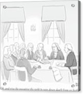 The Founding Fathers Drafting The Constitution Acrylic Print