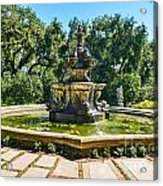 The Fountain - Iconic Fountain At The Huntington Library. Acrylic Print