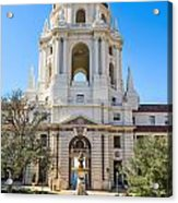 The Fountain - The Beautiful Pasadena City Hall. Acrylic Print