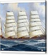 The Four-masted Barque Cedarbank At Sea Under Full Sail Acrylic Print