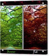 The Four Seasons- Featured In Comfortable Art And Newbies Groups Acrylic Print