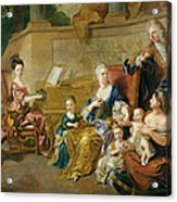 The Franqueville Family, 1711 Oil On Canvas Acrylic Print
