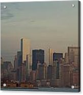 The Freedom Tower And Island Acrylic Print