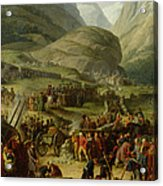 The French Army Travelling Over The St. Bernard Pass At Bourg St. Pierre, 20th May 1800, 1806 Oil Acrylic Print