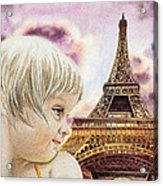 The French Girl Acrylic Print