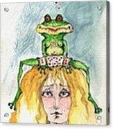 The Frog And The Princess Acrylic Print