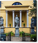 The Front Of The Telfair Museum Of Art Acrylic Print