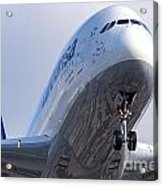 The Front Office Lufthansa Airbus A-380 Acrylic Print