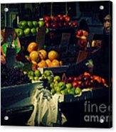 The Fruit Seller - New York City Street Scene Acrylic Print