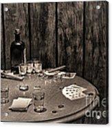 The Gambling Table Acrylic Print