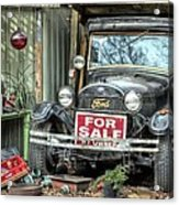 The Garage Sale Acrylic Print by JC Findley