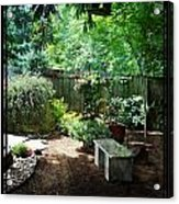 The Garden Bench Acrylic Print