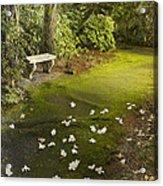 The Garden Bench Acrylic Print