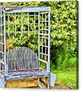 The Garden Bench In Spring  Acrylic Print
