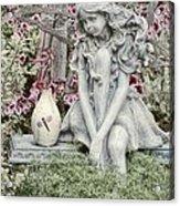 The Garden Fairy Acrylic Print by Peggy Hughes